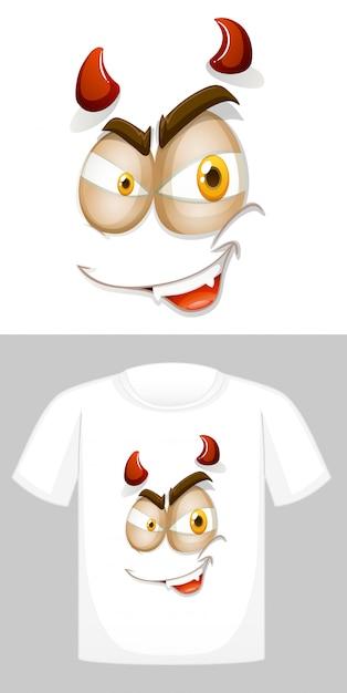 T-shirt met afbeelding vooraan Gratis Vector