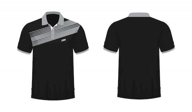 T-shirt polo grijs en zwart t illustratie Premium Vector