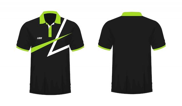 T-shirt polo groen en zwart t illustratie Premium Vector