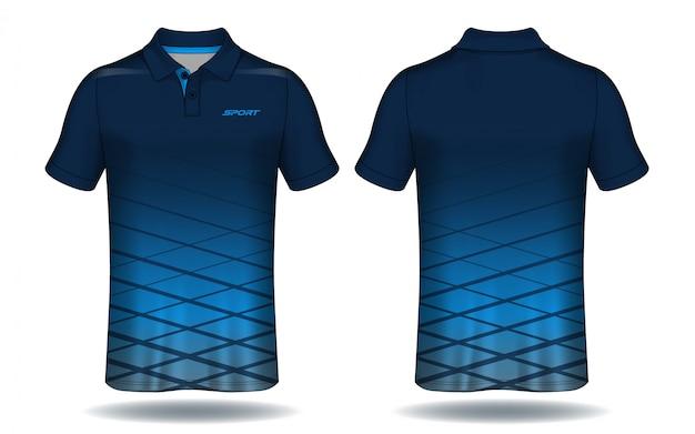 T-shirt polo ontwerp, sport jersey sjabloon. Premium Vector