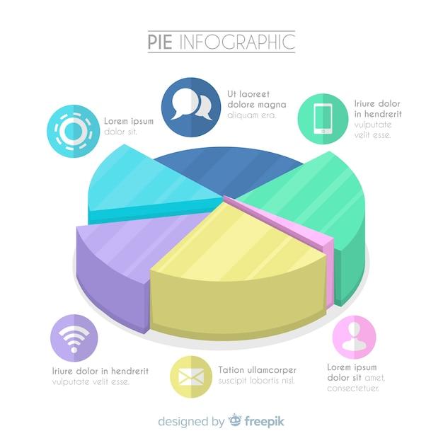 Taart infographic ontwerp Gratis Vector