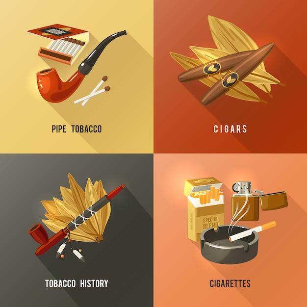 Tabak ontwerp concept Gratis Vector