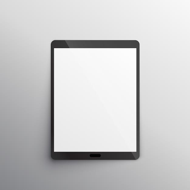 Tablet mockup ontwerp vector Gratis Vector