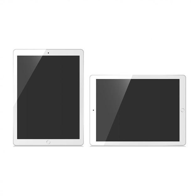 Tablet set mockup vector Premium Vector