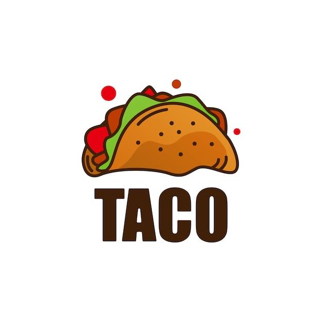 Taco eten logo pictogram illustratie Premium Vector