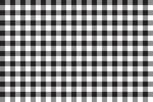 Tafelkleed zwart naadloos patroon als achtergrond Premium Vector
