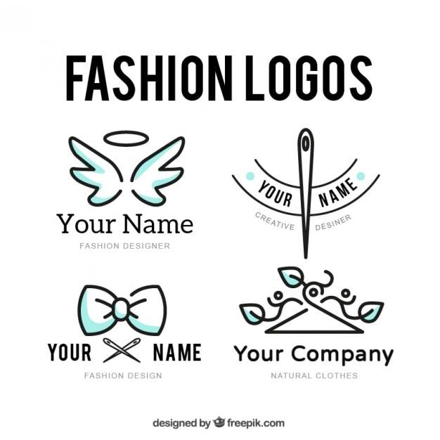 Tailor logo set Gratis Vector