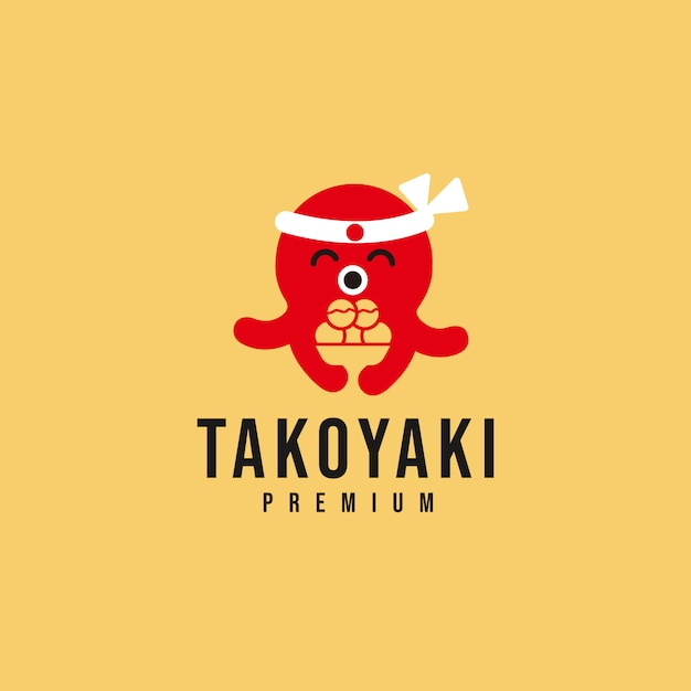 Takoyaki logo_02 Premium Vector