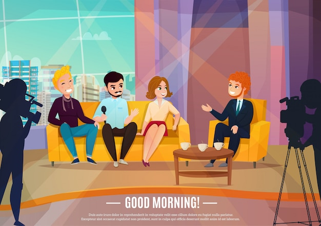 Talkshow-poster Gratis Vector