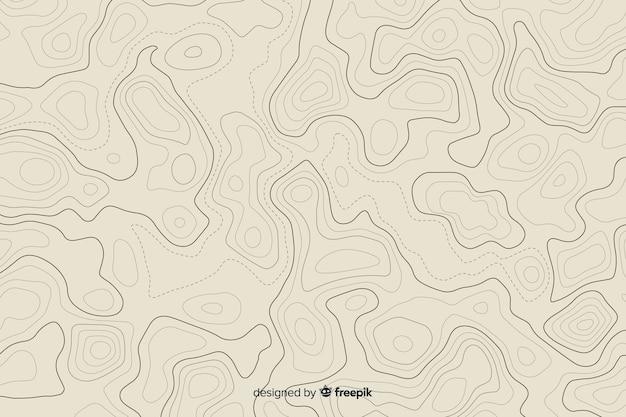 Talrijke verwarde topografische lijnen Gratis Vector