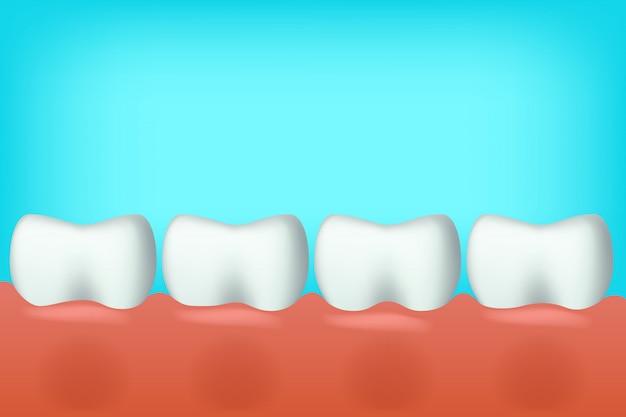 Tanden op één lijn Premium Vector
