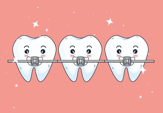 Tanden orthodontist behandeling voor tandheelkunde gezondheidszorg Gratis Vector