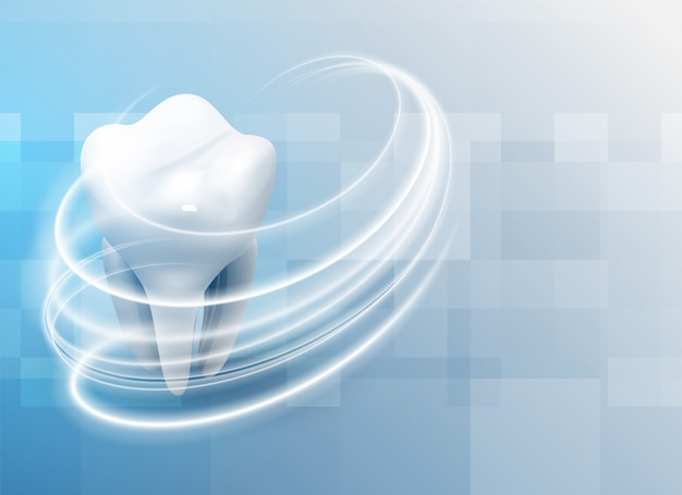 Tanden tandheelkundige zorg medische achtergrond Gratis Vector