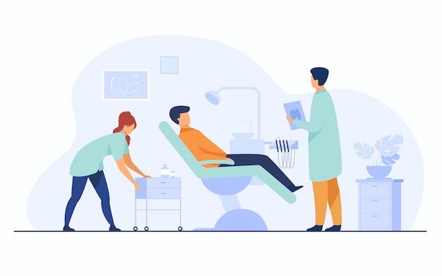 Tandheelkundige kliniek concept Gratis Vector