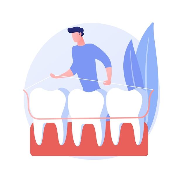 Tandheelkundige tand plaat abstract concept vectorillustratie. enkele tandplaat, tandheelkundige gezondheidszorg, volledig en gedeeltelijk kunstgebit, vervanging van ontbrekende tanden, abstracte metafoor voor orthodontische apparatuur. Gratis Vector