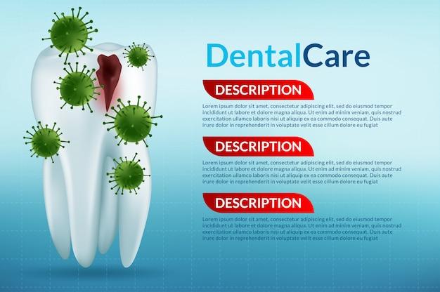 Tandverzorging en tanden Premium Vector