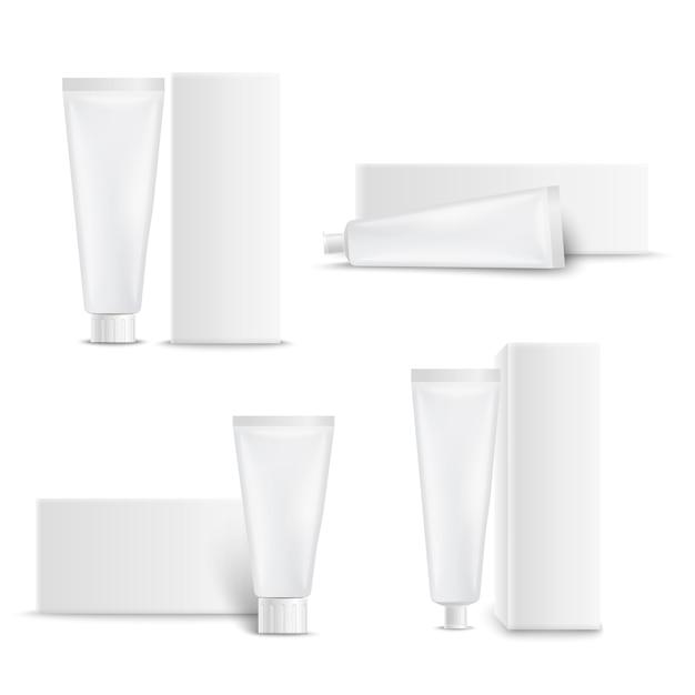 Tandverzorging pakketten ingesteld Gratis Vector