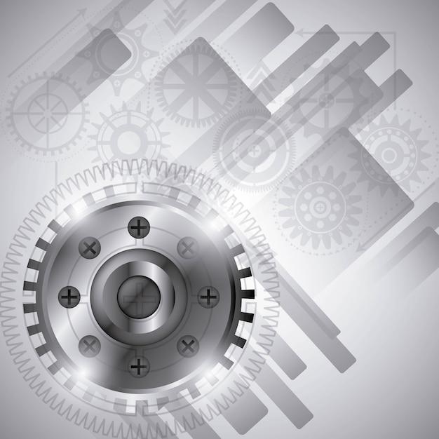 Tandwiel ontwerp Premium Vector
