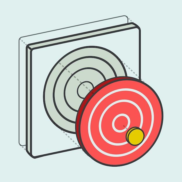 Target dartboard digitale creatieve afbeelding Gratis Vector