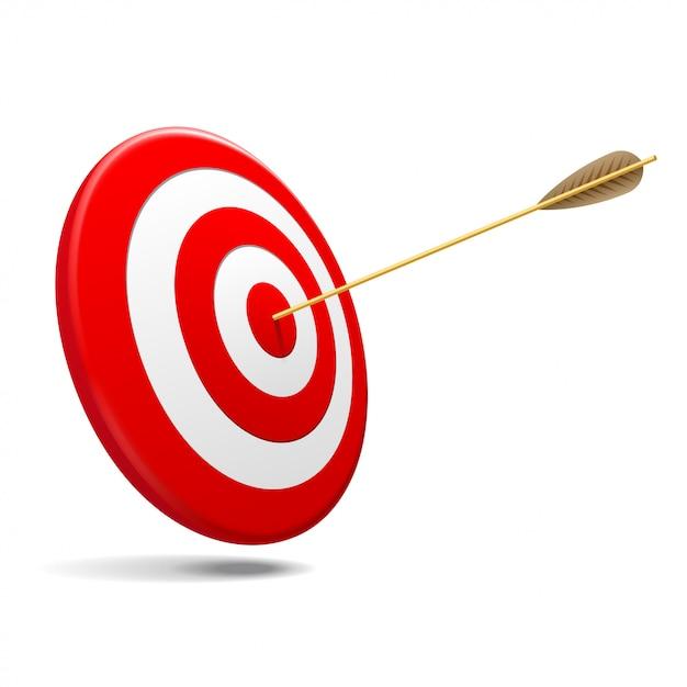 Target met pijl Premium Vector