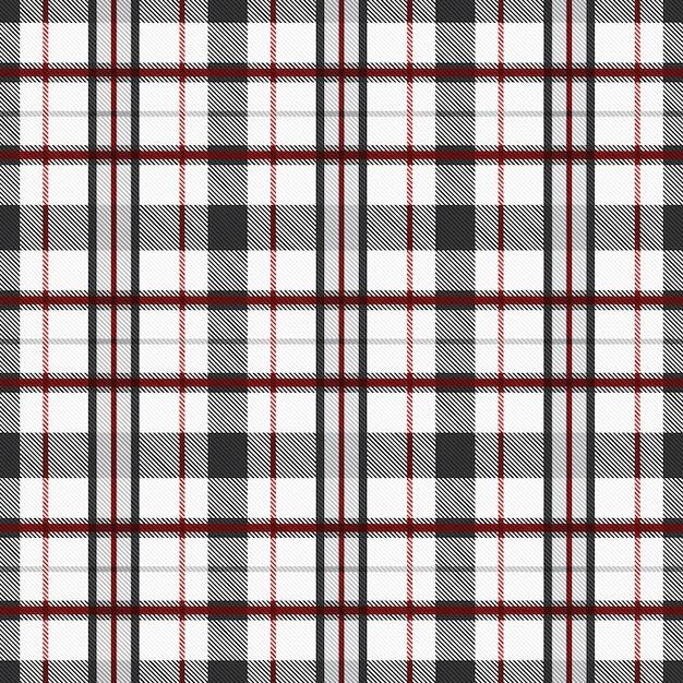 Tartan patroon naadloze weefsel achtergrond met rode en grijze tonen. geruite textuur geruite Premium Vector