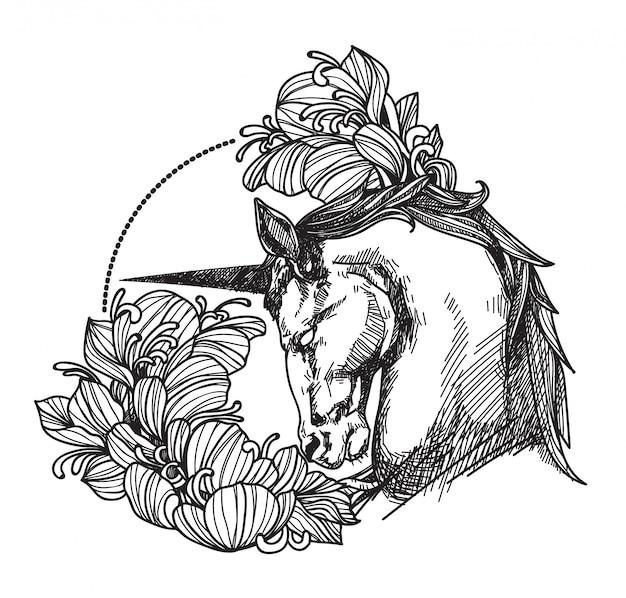 Tattoo Paard Vector Premium Download