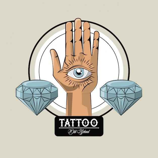 Tattoo studio old school Premium Vector