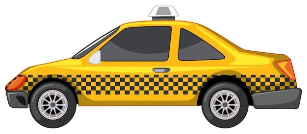 Taxi in gele kleur Gratis Vector