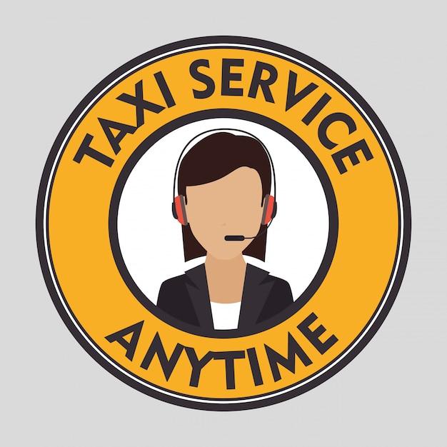 Taxi klantenservice Gratis Vector