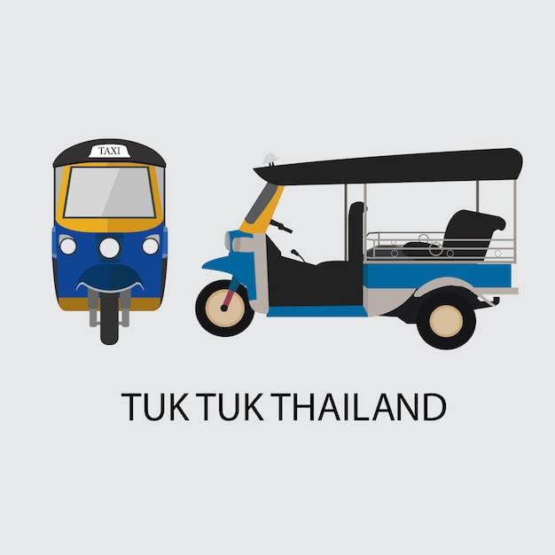 Taxi van thailand Premium Vector