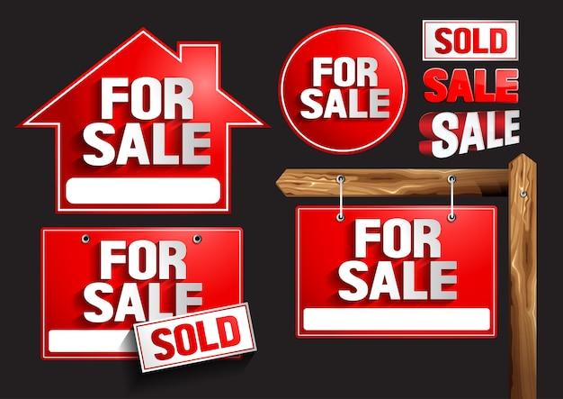 Te koop tekensymbolen Premium Vector