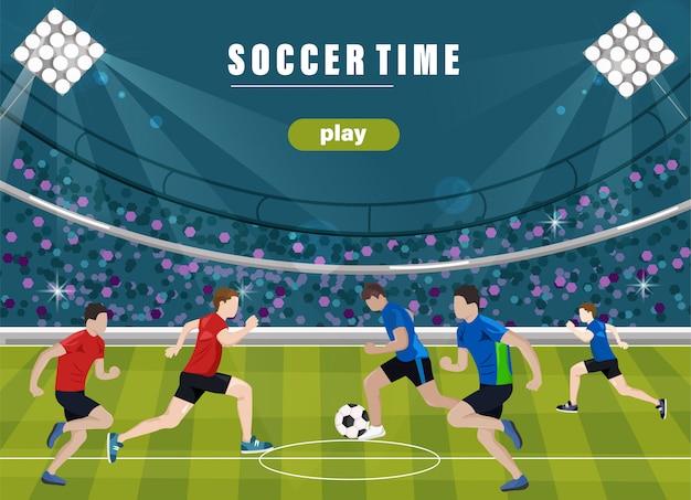 Team voetballen Premium Vector
