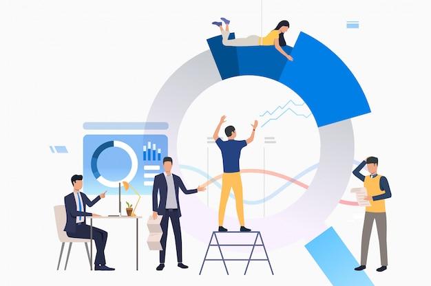 Teamleider project beheren Gratis Vector