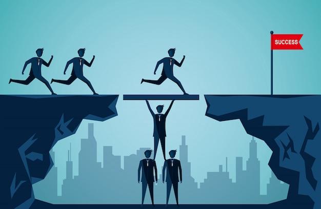 Teamwerk bedrijfsconcept Premium Vector