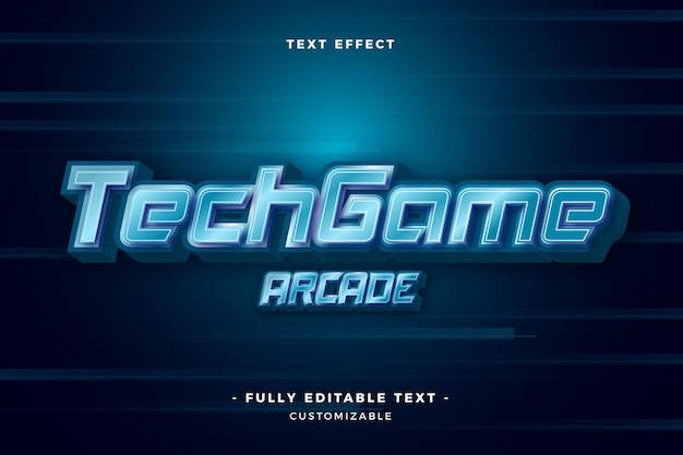 Tech game arcade-teksteffect Gratis Vector