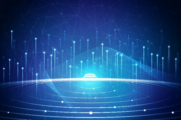Technologie achtergrond concept Gratis Vector