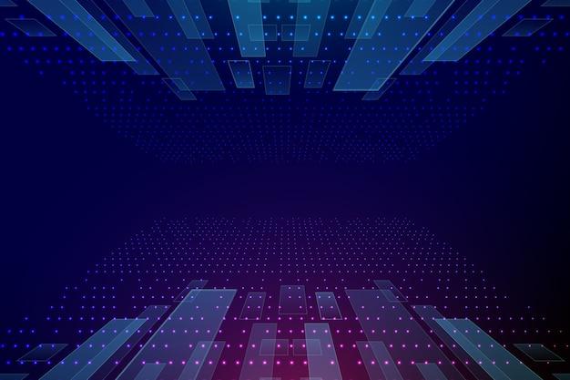 Technologie achtergrondontwerp Gratis Vector