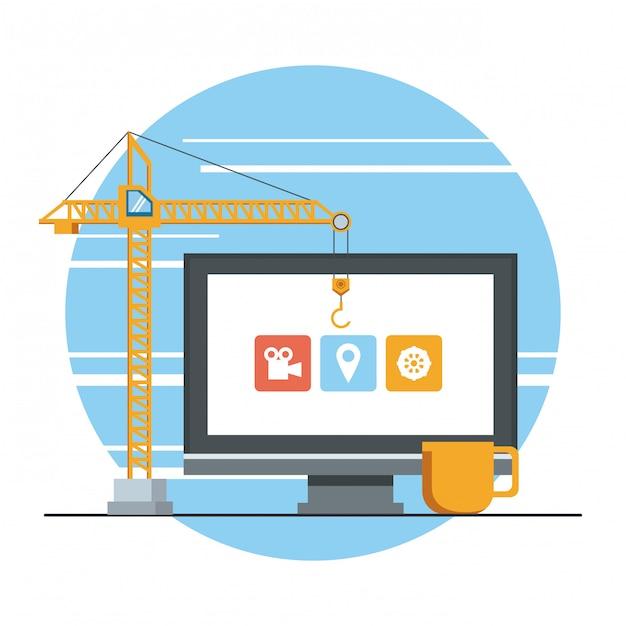 Technologie apparaat onderhoud ondersteuning concept cartoon Gratis Vector