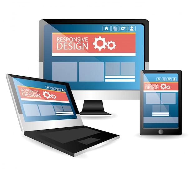 Technologie apparaten illustratie Gratis Vector