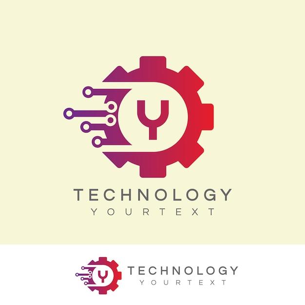 Technologie eerste letter a logo-ontwerp Premium Vector