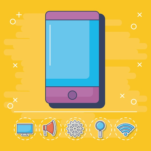 Technologie en innovatie-elementen Gratis Vector