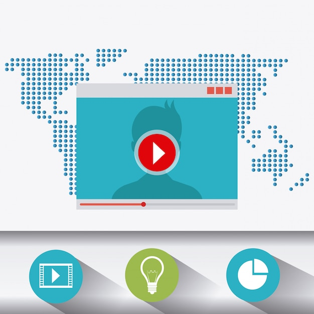 Technologie, internet en multimedia Gratis Vector