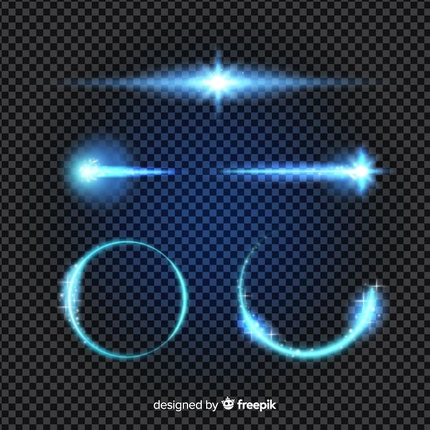 Technologie lichteffectcollectie Gratis Vector