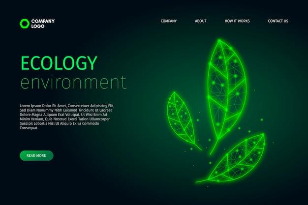 Technologisch ecologieontwerp Gratis Vector