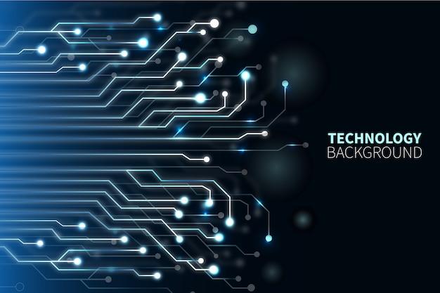 Technologische achtergrond Gratis Vector