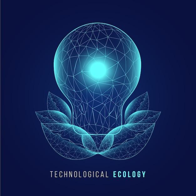 Technologische ecologie concept Gratis Vector
