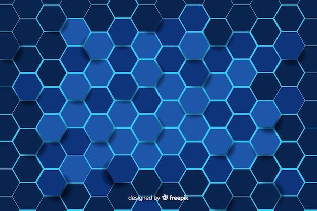 Technologische honingraat patroon achtergrond Gratis Vector