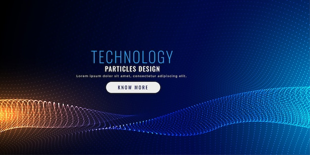 Techology particle mesh background design Gratis Vector