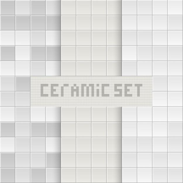 Tegel achtergrond. baksteen textuur. vierkante tegels. Premium Vector