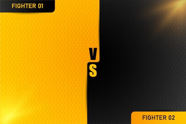 Tegenover vs letters vechten illustratie op achtergronden Premium Vector
